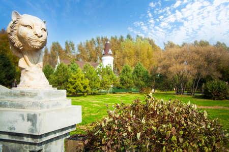 volga: Volga manor autumn landscape Editorial