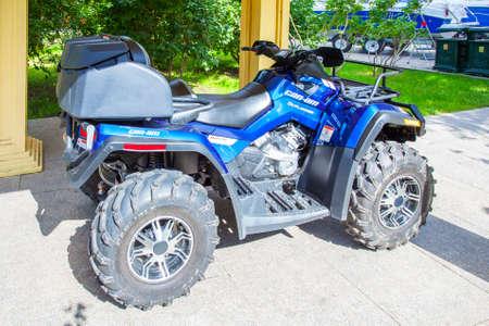 Four wheel motorcycle beach motorcycle