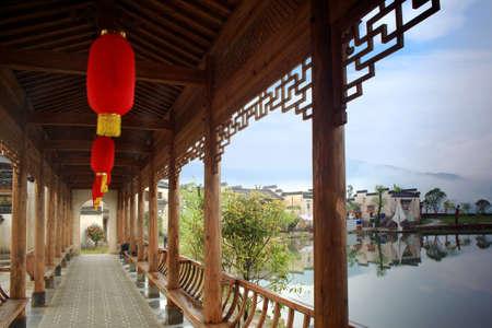 Huizhou architecture Shouzhuo Park promenade