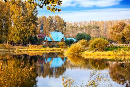 Volga manor autumn  scenic