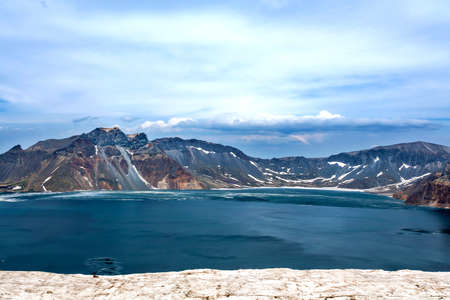 volcano slope: The western slope of Changbai Mountain Tianchi peak view