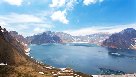 volcano slope: West slope of Tianchi Lake in Changbai Mountain