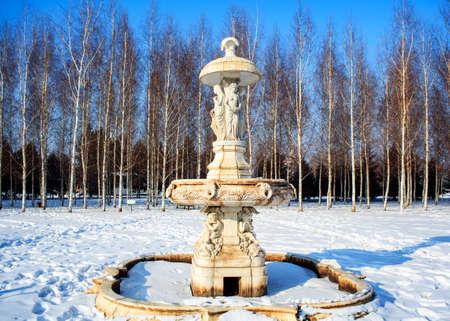 European fountain girl sculpture Editorial