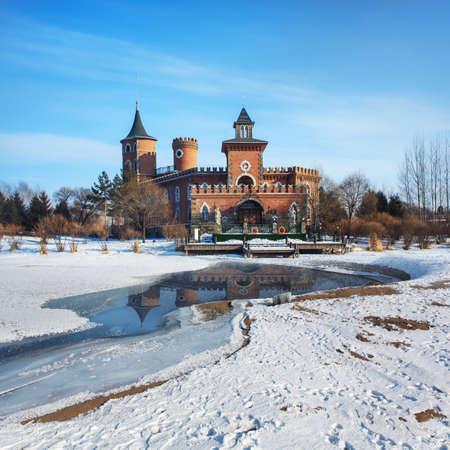Castle River Snow reflection