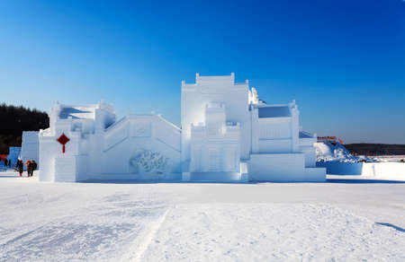 Huipai building positive snow art Editorial