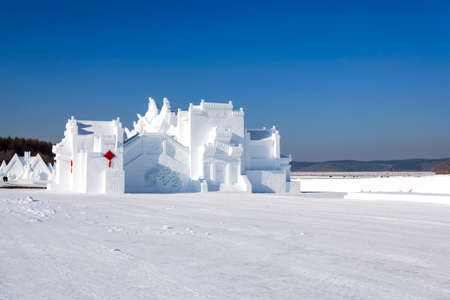 Huizhou architecture snow art vision