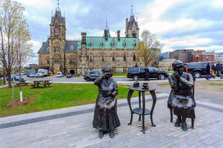 Figure sculpture of The City Hall Square in Ottawa