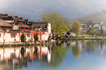 Anhui Hongcun Nanhu Huizhou architecture