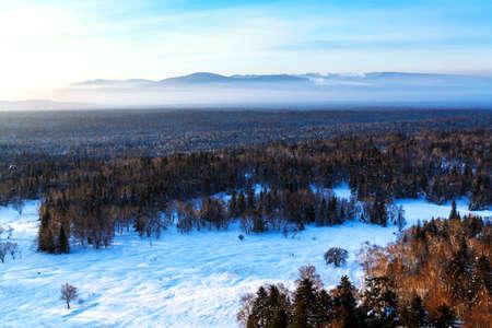 Changbai Mountain winter snow peak