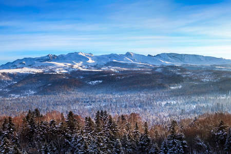 Changbai Mountain winter peak Stockfoto