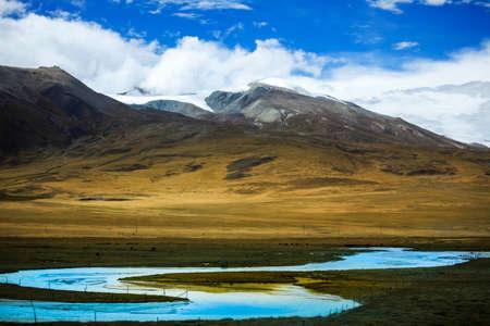 Snow mountain plateau scenery Stockfoto