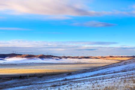 Inner Mongolia snow scenery