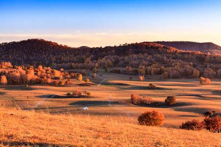 autumn Grassland at Mongolia