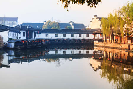 The ancient town of Xitang ancient dwellings wupengchuan sunrise