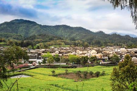 Huizhou architecture rape Anhui Xidi Village panorama