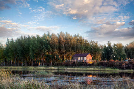 Cabin at wetland