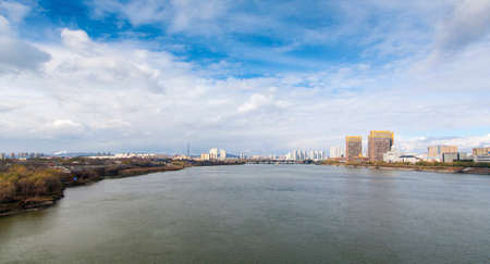 Songhua River with blue sky