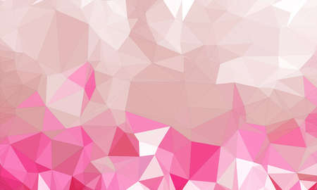 low poly background and polygon in geometric pink cool shape Imagens