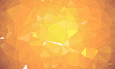 low poly background and polygon in geometric yellow warm shape