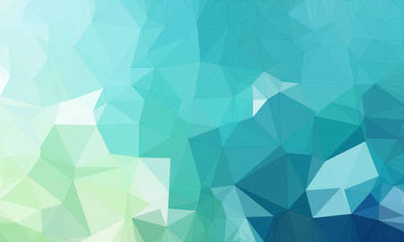 Illustration background in geometric pattern with polygonal style in color light and dark blue and light green. Stock Photo