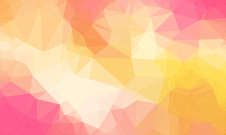 Illustration background in geometric pattern with polygonal style in color yellow and pink and orange.