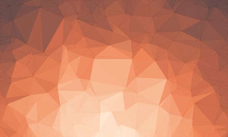 Illustration background in geometric pattern with polygonal style in color dark red and orange.