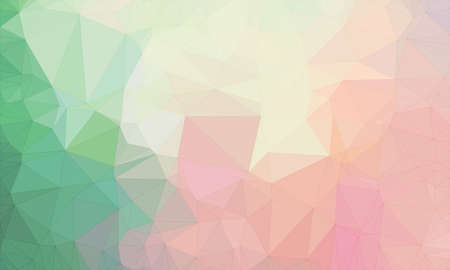 Illustration background in geometric pattern with polygonal style in color pink and orange and green and pink.