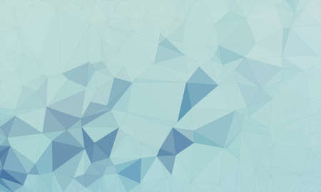 Illustration background in geometric pattern with polygonal style in color light and dark blue. Stock Photo