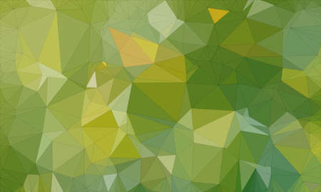 Low poly background design in geometric pattern. polygon wallpaper in origami style. polygonal texture illustration in color dark green and medium green and light green Stock Photo