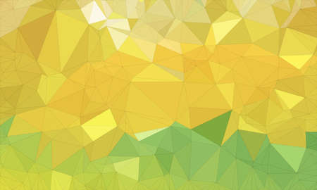 Low poly background design in geometric pattern. polygon wallpaper in origami style. polygonal texture illustration in color light green and medium green and yellow Stock Photo