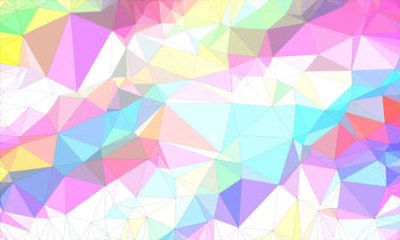 Low poly background design in geometric pattern. polygon wallpaper in origami style. polygonal texture illustration in color green and purple and blue and white and yellow