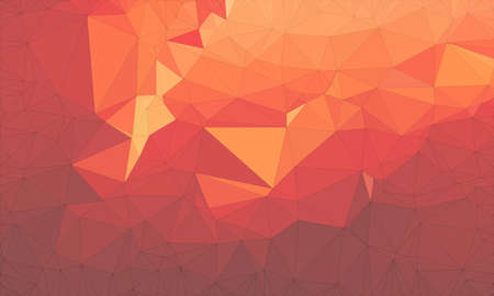 Low poly background design in geometric pattern. polygon wallpaper in origami style. polygonal texture illustration in color dark orange and light orange and dark red and medium red and light red