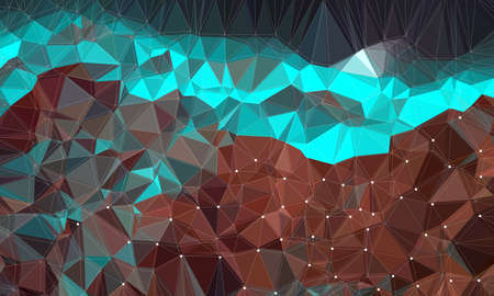 Low poly background design in geometric pattern. polygon wallpaper in origami style. polygonal texture illustration in color light blue and brown.