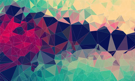 Low poly background design in geometric pattern. polygon wallpaper in origami style. polygonal texture illustration in color red and yellow and brown and green Stock Photo