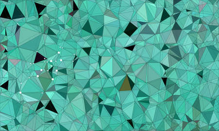 green low poly background with dark purple and light purple and geometric pattern. Stock Photo