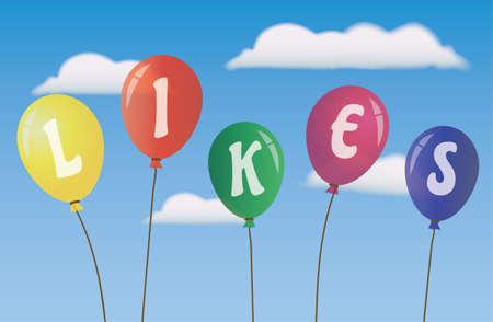 likes: Balloons Likes Social Media