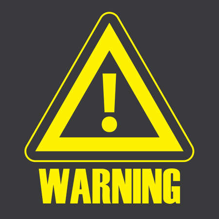 Warning Sign And Safety Symbol With Black Background Illustration