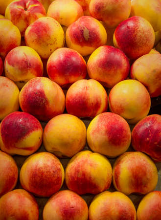 stock photos: Peaches Fruit Food Color Pattern Texture Stock Photos - Peaches Market Background -
