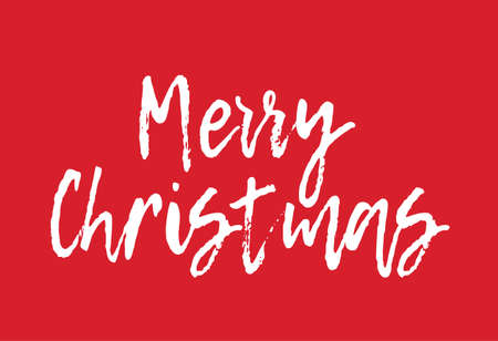 Merry Christmas Greeting Card - Merry Christmas Letter Background Postcard Calligraphy Typography Illustration Vector Stock Illustration