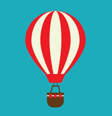 Hot-Air Balloon illustration vector flat style design stock