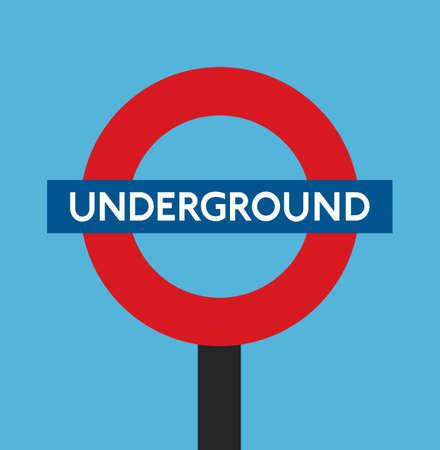 london   england: london england underground metro tube station vector flat stock