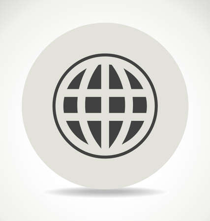 flat earth: Globe earth network infographic icon ball vector shadow flat stock