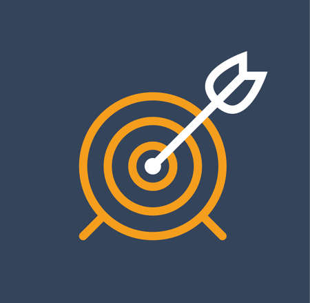 Arrow archery target vector marketing success flat stock Illustration