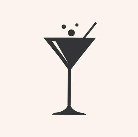 Cocktail icon drinks glass liquor martini bar wine symbol vector stock