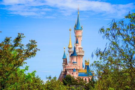Sleeping Beauty castle at Disneyland Paris, Eurodisney Editorial. Photo stock.
