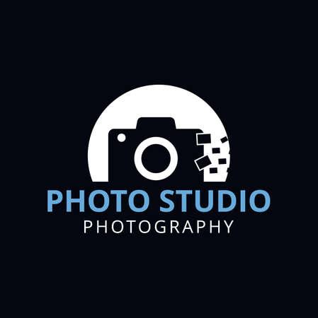 Camera and Photography logo. Photography studio logo. Vector stock. Illustration