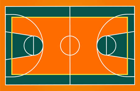Basketball game field camp isolated. Basket camp in flat style. Vector stock.