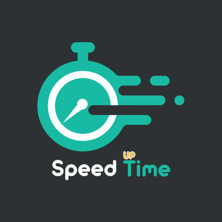 Speed up time a illustration with flat, liquid, modern style
