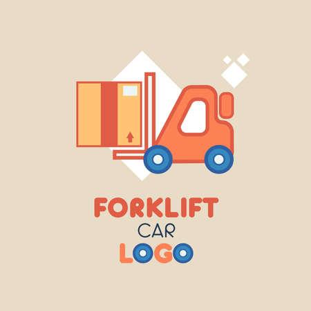 Forklift Car Logo illustration company or industrial logos in flat, cartoon & modern styles Standard-Bild - 129814517
