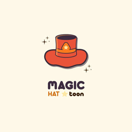 Magic Hat Toon Illustrated objects with minimal cartoon style